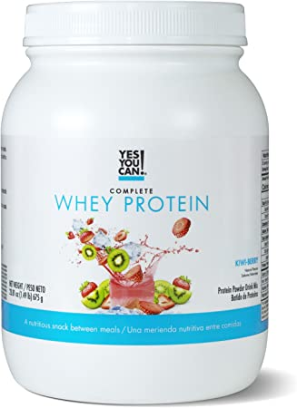 Yes You Can. Complete Whey Protein, a Nutritious Snack Between Meals, 15 Grams of Protein, Helps Lose Weight and Build Muscle, Batidos de Proteina Completo para Bajar de Peso - 1.49 Lb, Kiwi Berry