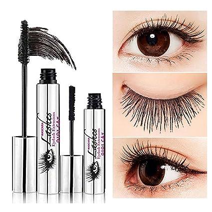 Mascara crema 4D, KOBWA maquillaje pestaña, Mascara resistente al agua fría ojo negro pestañas