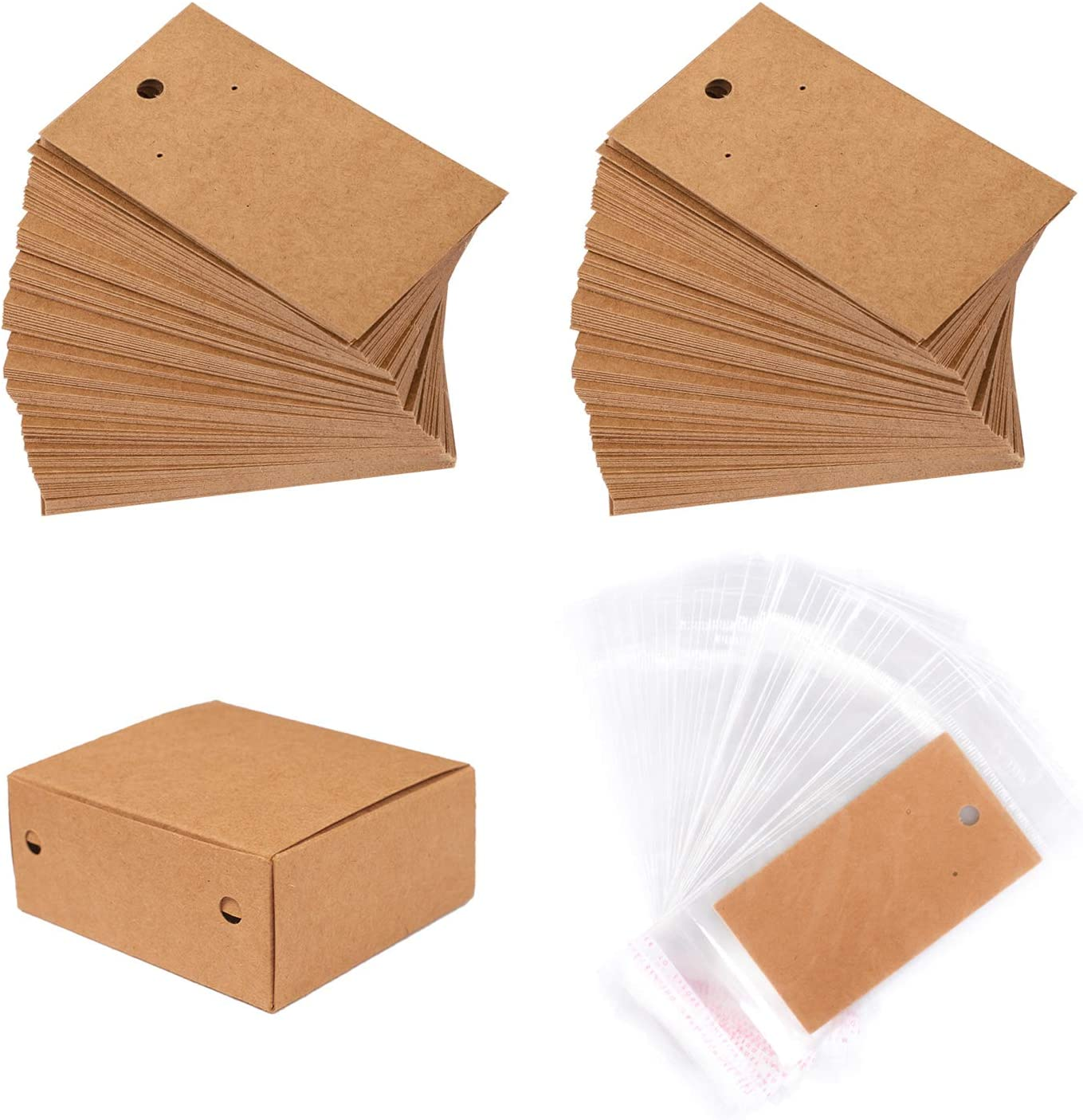 Display Cards For Earrings Ear Studs Jewelry Blank Hanging Tag Kraft Paper Cards