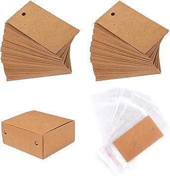 Amazon.com: Whaline - 200 unidades de soportes para tarjetas ...