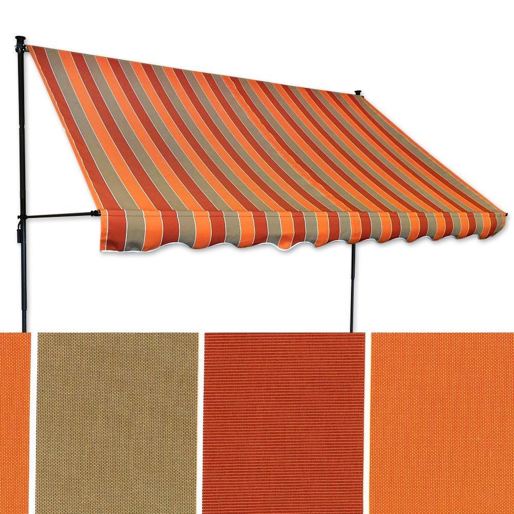 Jawoll Klemm-Markise 3 x x x 1,5 m braun-terracotta (Profilfarbe  Anthrazit) Balkonmarkise Spannmarkise Sonnenschutz Klemmmarkise 18c0ca
