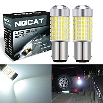 NGCAT 1157 BAY15D 7528 Bombillas LED 1500LM 3014SMD Chipsets 144-EX con proyector de lentes