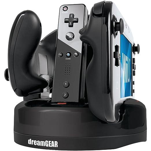 dreamGEAR Quad Dock Revolution, Wii U Interior Negro: Amazon ...