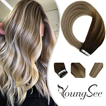 Amazon.com: YoungSee - Extensiones de cabello humano sin ...