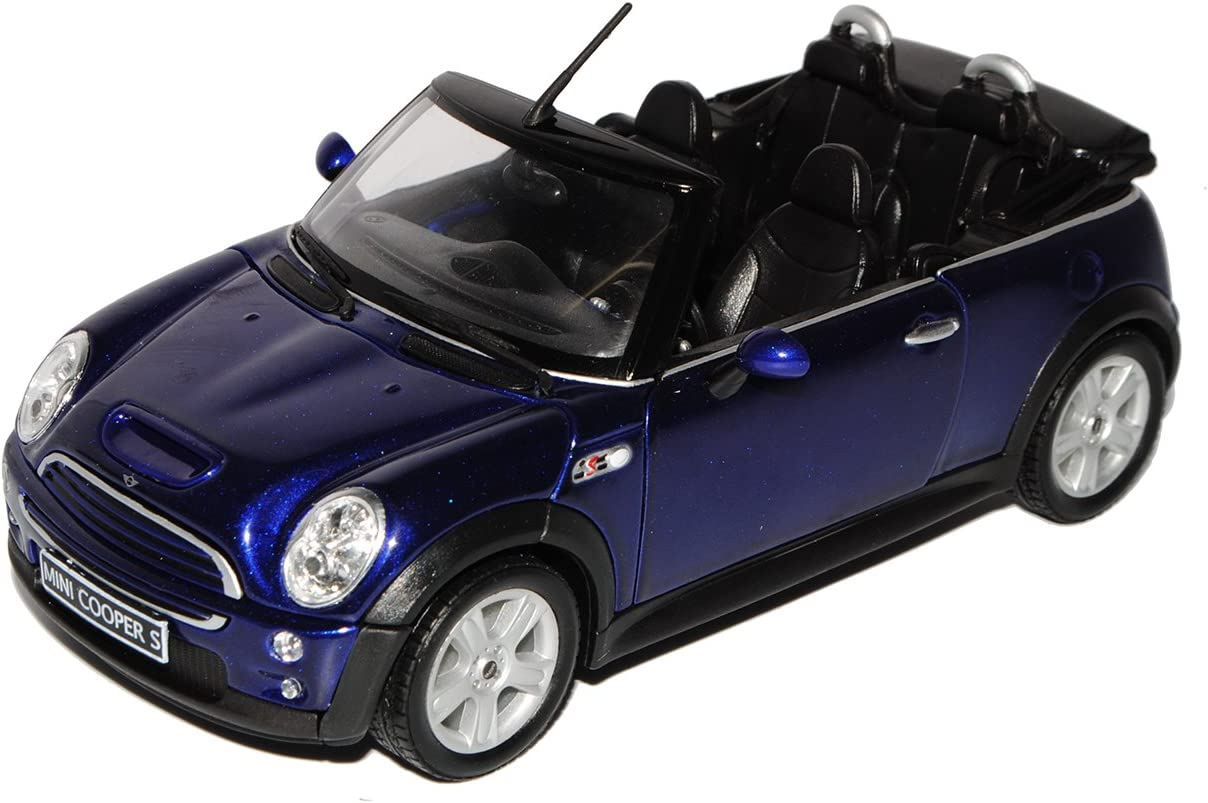 Welly Mini Cooper Cabrio Blau R52 2004-2008 1//24 Modell Auto mit individiuellem Wunschkennzeichen