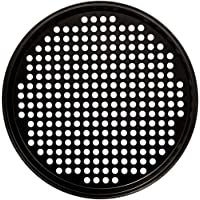 Royalford RFU9069 Pizza Pan Carbon Steel, Aerated Holes, Oven Safe, Premium Non-Stick Coating, 0.4 mm Thick, PFOA and PTFE Free