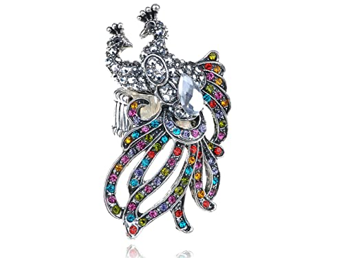 aba8b448c Image Unavailable. Image not available for. Color: Alilang Stretchy Silvery  Tone Multicolored Rhinestones ...