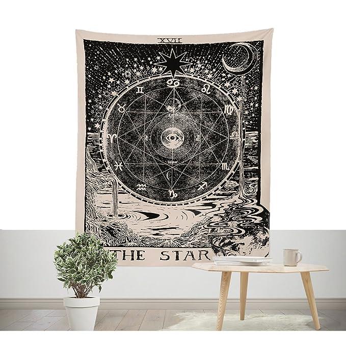 Altar tradicional Tarot adivino pared Alfombra la tarjeta Star pared tapiz sintética Medieval liche Europa divination pared colgantes lanzar Secreto ...