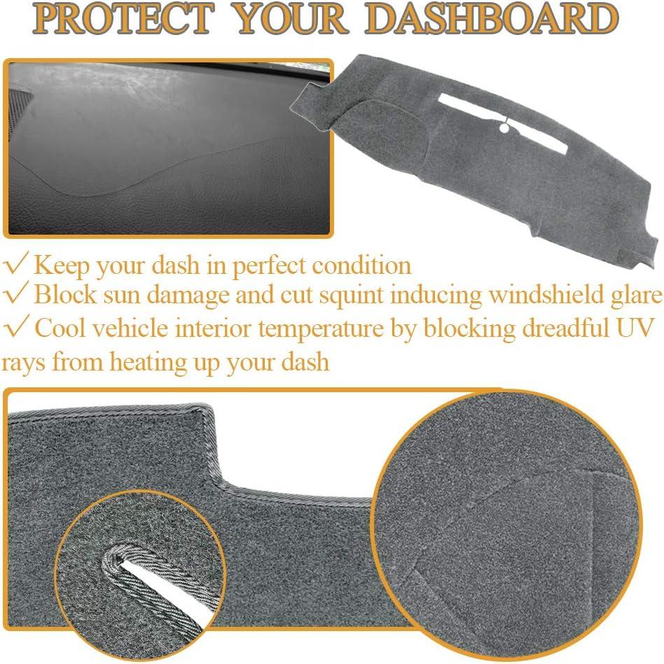 AKMOTOR Dash Cover Dashboard Cover Pad Mat Custom for 2014-2018 Chevy Chevrolet Silverado 1500 // GMC Sierra 1500 2015-2018 2500HD//3500HD Y32 14-17 Brown