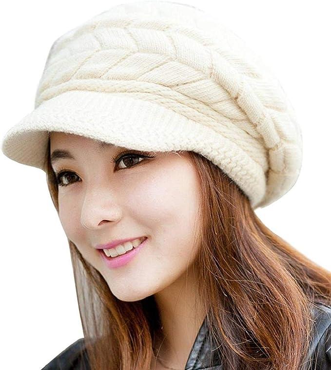 QS_Go Sombreros de Mujer Invierno Sombrero de Punto Sombreros de ...