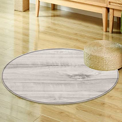 Amazon Com Round Rugs For Bedroom Wood Texture Surface Of