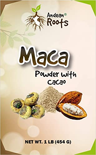 Andean Roots Peruvian Maca Powder with Cacao, Gelatinized 1 lb Bag