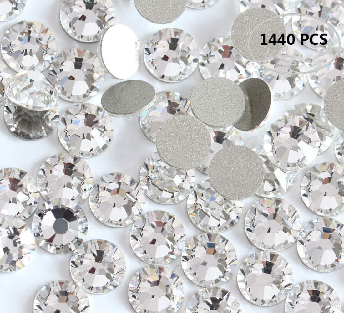1440PCS Fireboomoon Crystal (001) clear Swarovski, Crystal Nail Art Flatbacks Rhinestones, Flat backs Rhinestones 5mm ss20. by Fireboomoon