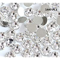 1440PCS Fireboomoon Crystal (001) clear Glass Crystal Nail Art Flatbacks Rhinestones...
