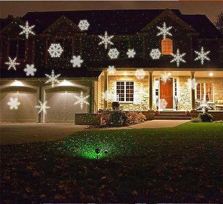 Xingyue Mythology Nieve Proyector Luz Navidad Halloween CéSped ...