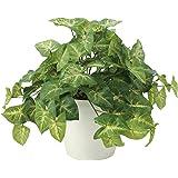 造花 インテリア観葉植物「アート・フラワー&グリーン50」光触媒(空気清浄) フェイク (カラジューム-M)