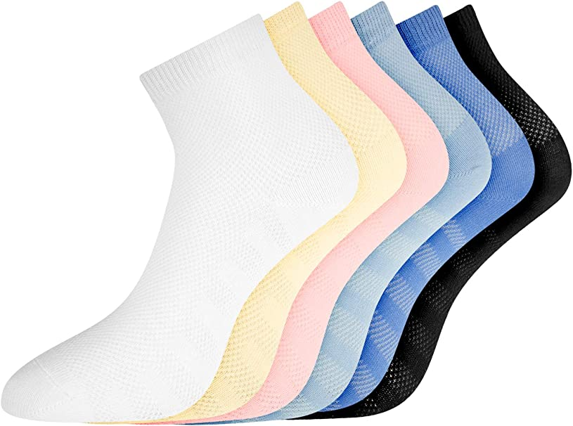 oodji Ultra Mujer Calcetines de Algodón (Pack de 6), Multicolor ...