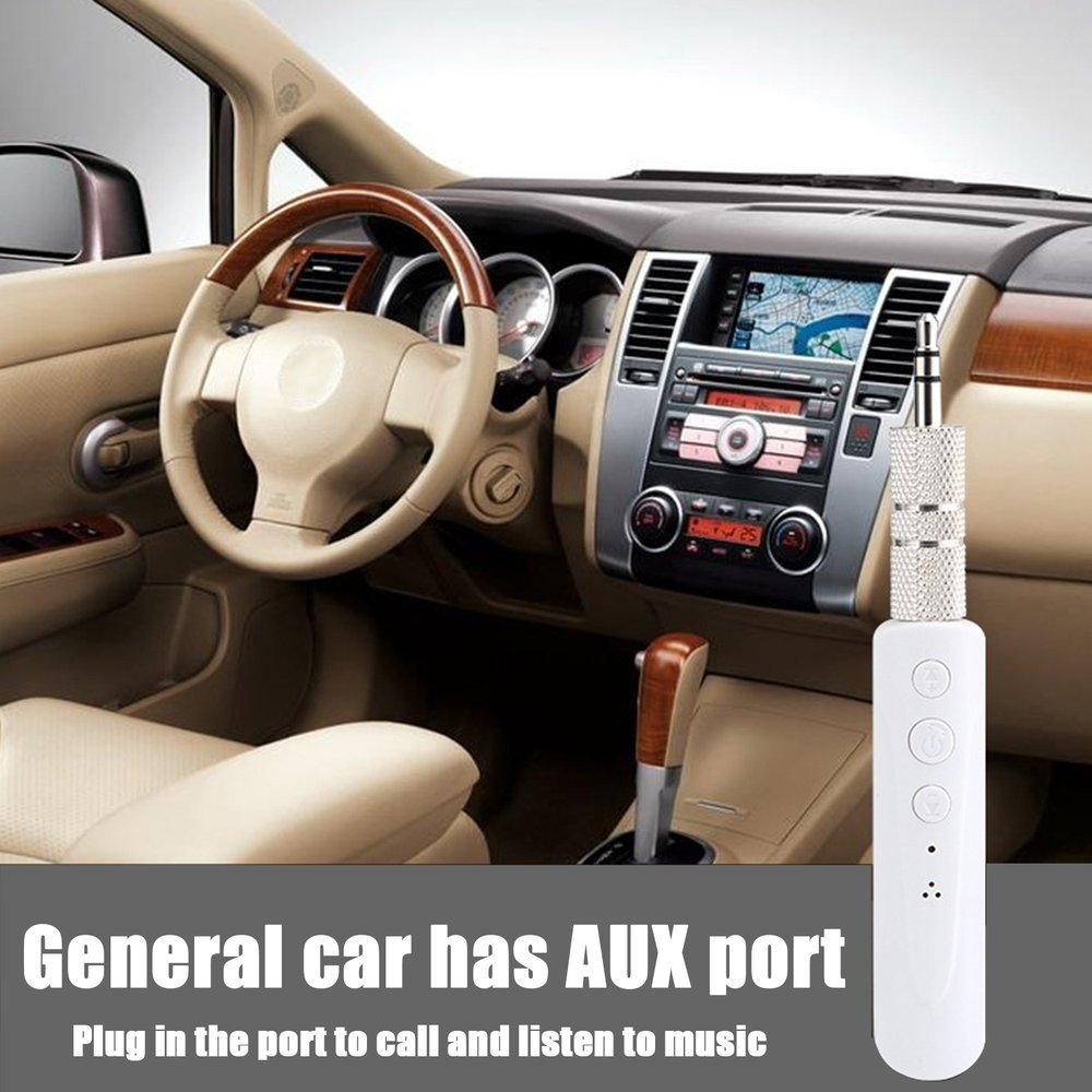 Mini Receiver with Mic Support Wireless Handsfree 3.5Mm Auto Aux Audio Adapter for Car Stereos Phone Mp3 Bluetooth Receiver