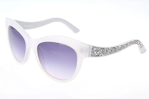 ebdecabe310d Sunglasses Swarovski SK 110 SK0110 21B white / gradient smoke at ...