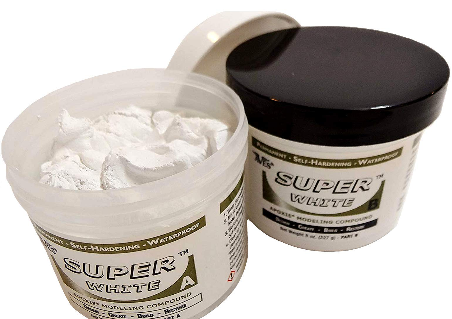 Apoxie Sculpt 1 lb. Super White, 2 Part Modeling Compound (A & B)