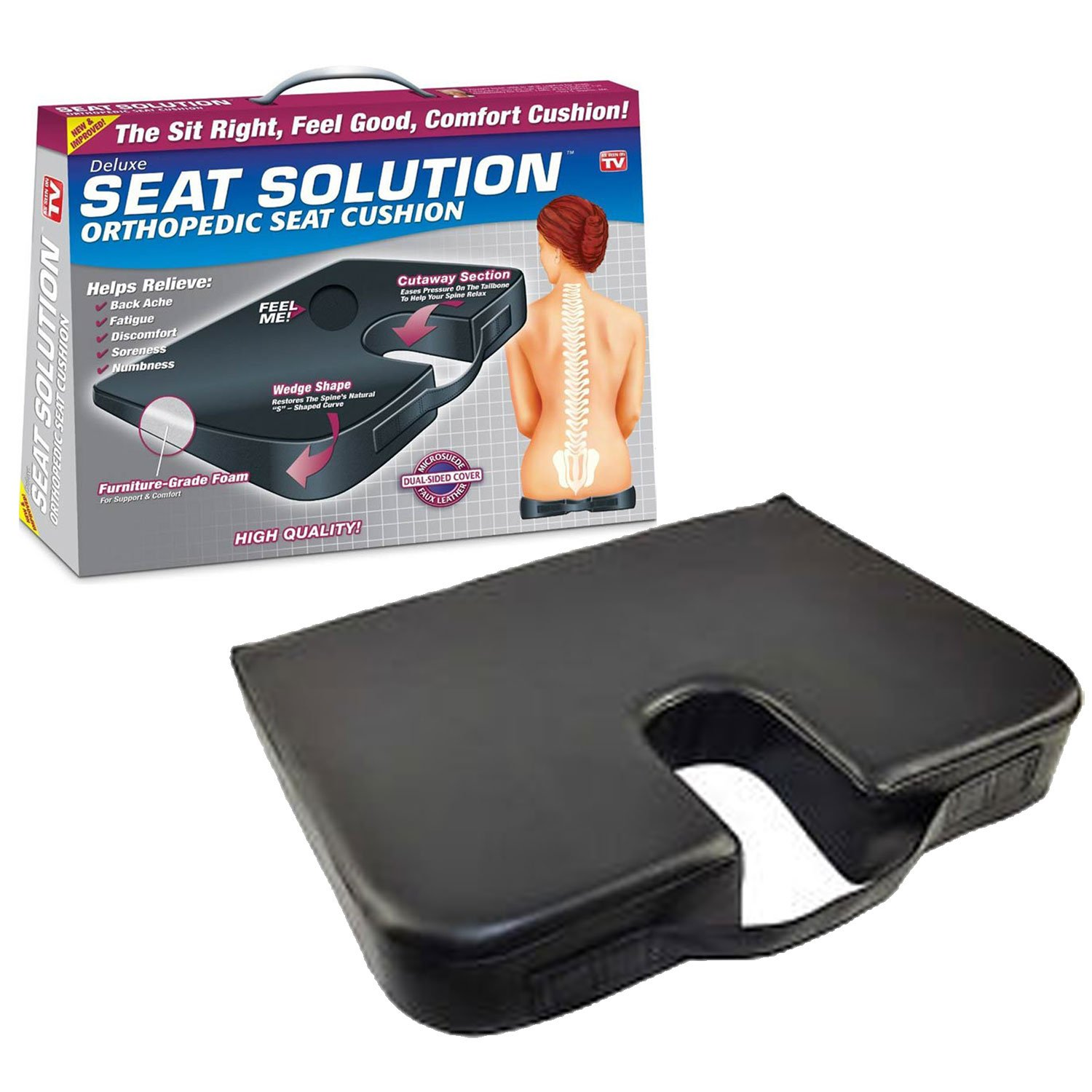 Deluxe Seat Solution™ Orthopedic Seat Cushion by As Seen On TV
