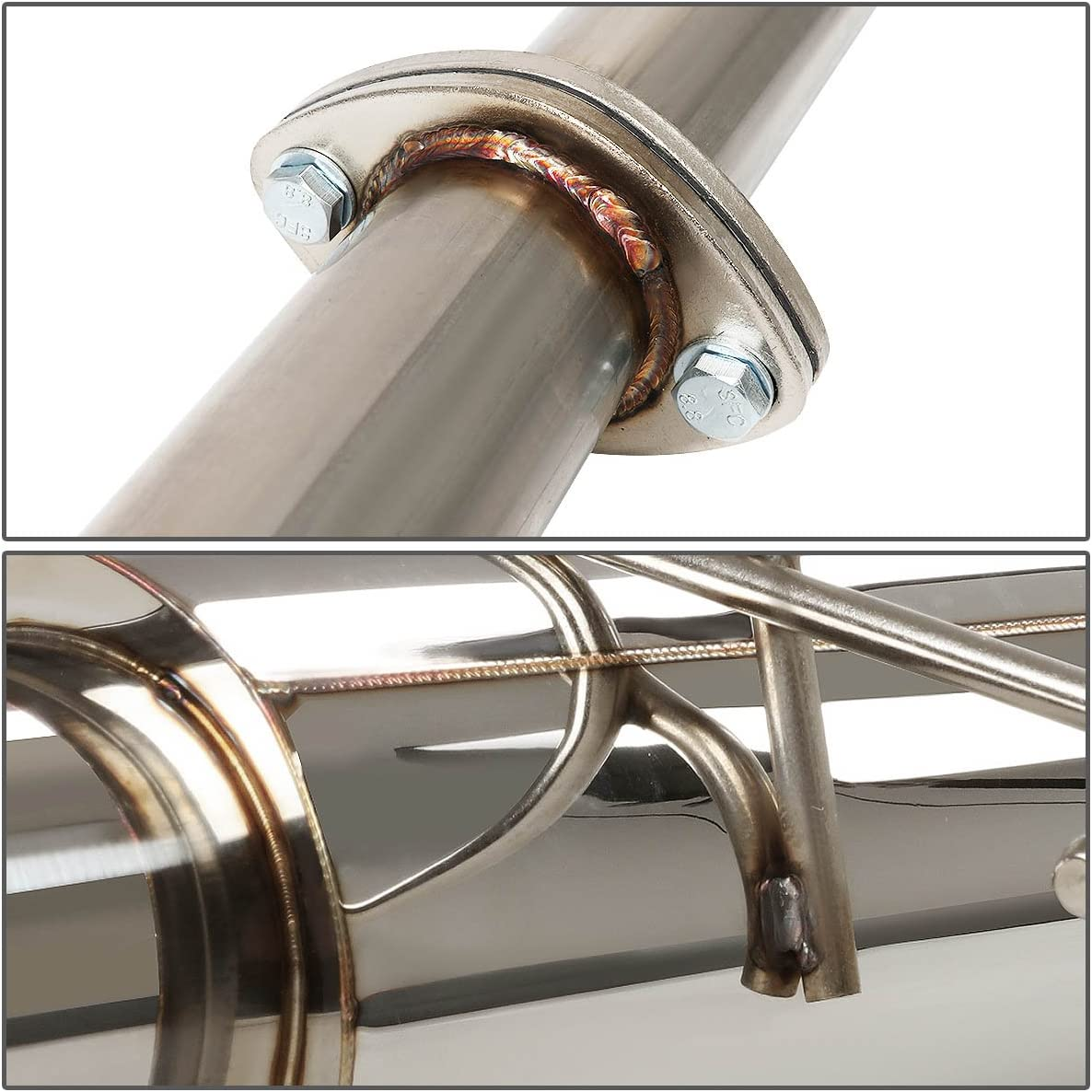 DNA Motoring CBE-HC923 CBEHC923 Stainless Steel Catback Exhaust System