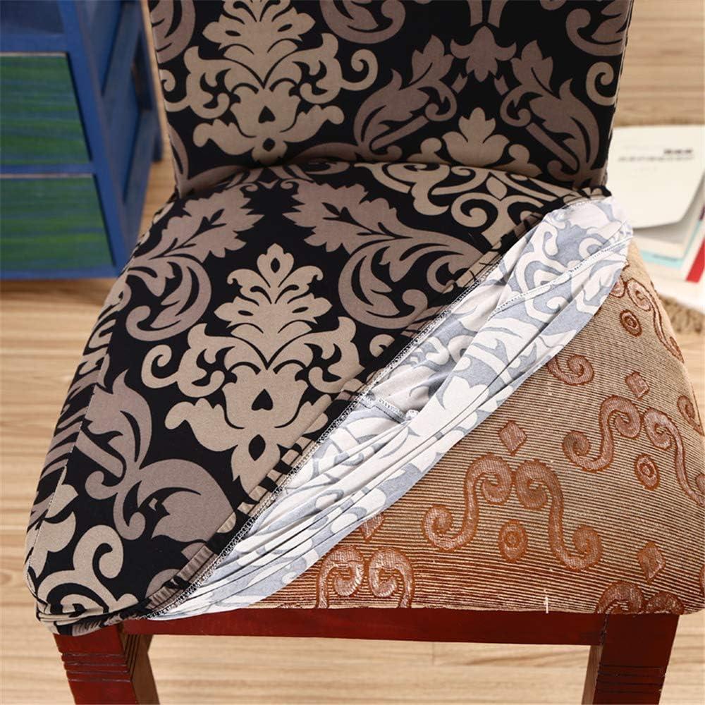 Fundas de Sillas Comedor Elasticas, Morbuy Modern Bouquet Boda Decor Asiento Cubre, Respaldo Alto Extraíbles y Lavables Protectoras Cubiertas para