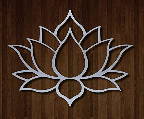 Master Cut Beautiful Metal Wall Art for Home Decor- Lotus Wall Art – Easy to Hang -Stainless Steel – Abstract Wall Art – Size – 18 x 24 – 2mm Thickness Small Size
