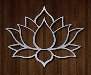 """Master Cut Beautiful Metal Wall Art for Home Decor- Lotus Wall Art - Easy to Hang -Stainless Steel - Abstract Wall Art - Size - 18"""" x 24"""" - 2mm Thickness (Small Size)"""
