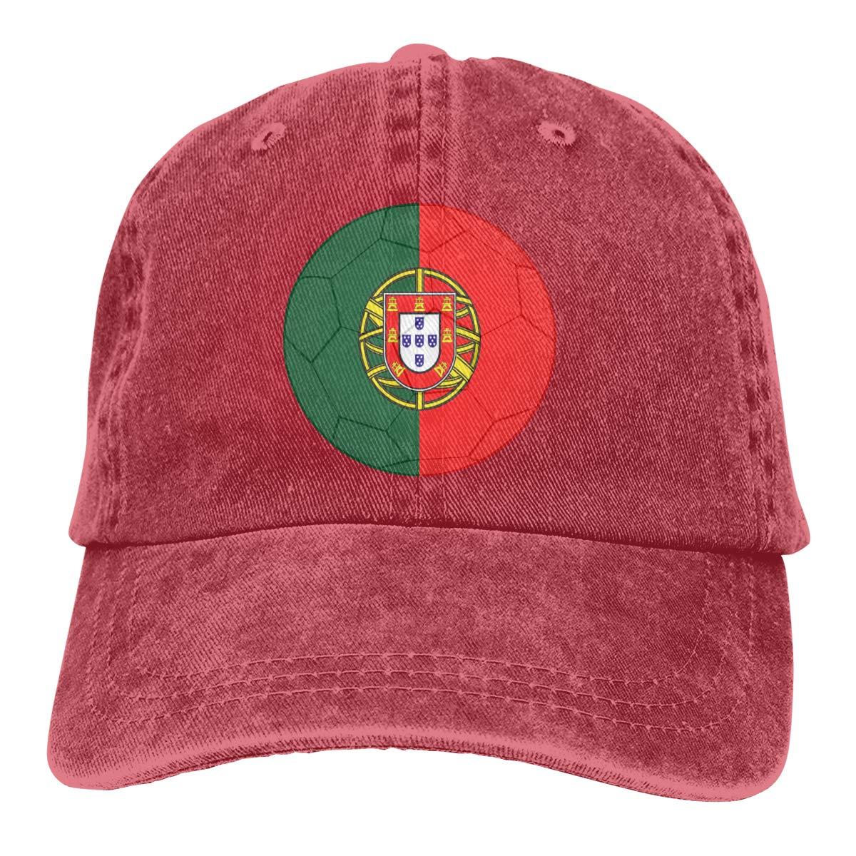 Cotton Hats Amayc Adjustable Mens Denim Baseball Caps 2018 Portuguese Flag and Football Funny