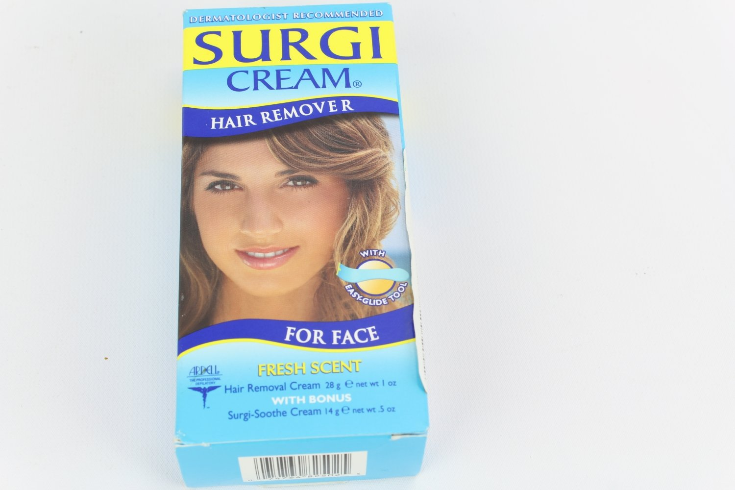 Surgi-Care Surgi-Cream Invisi-Bleach Hair Remover for Face - Fresh - 1.5 oz Hair Motion
