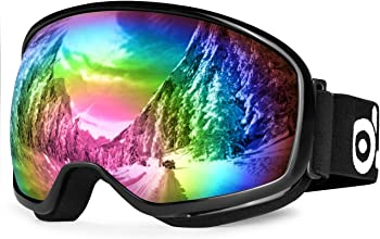 Odoland S2 Double Lens Anti-fog Windproof UV400 Snow Ski Goggles