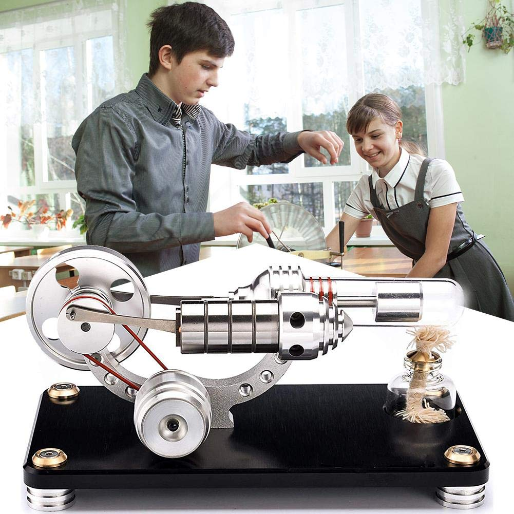 Ningxiao586 Mini-Heißluft-Stirlingmotor-Bewegungsmodell pädagogische Spielzeug-Ausrüstungen mit Buntem LED-Schwungrad