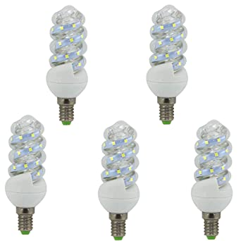 BOMBILLA LED MINI ESPIRAL E14 5 W (pack 5) (4000K) 46237