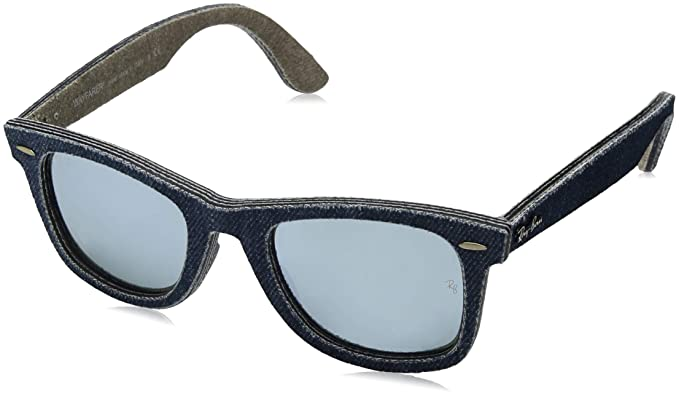 Ray-Ban MOD. 2140, Gafas de Sol Unisex, Multicolor (Jeans Blue/Jeans Green Brown), 50 mm