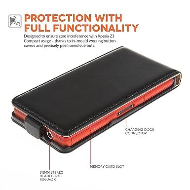 Amazon.com: Caseflex Sony Xperia Z3 Compact Case Black ...