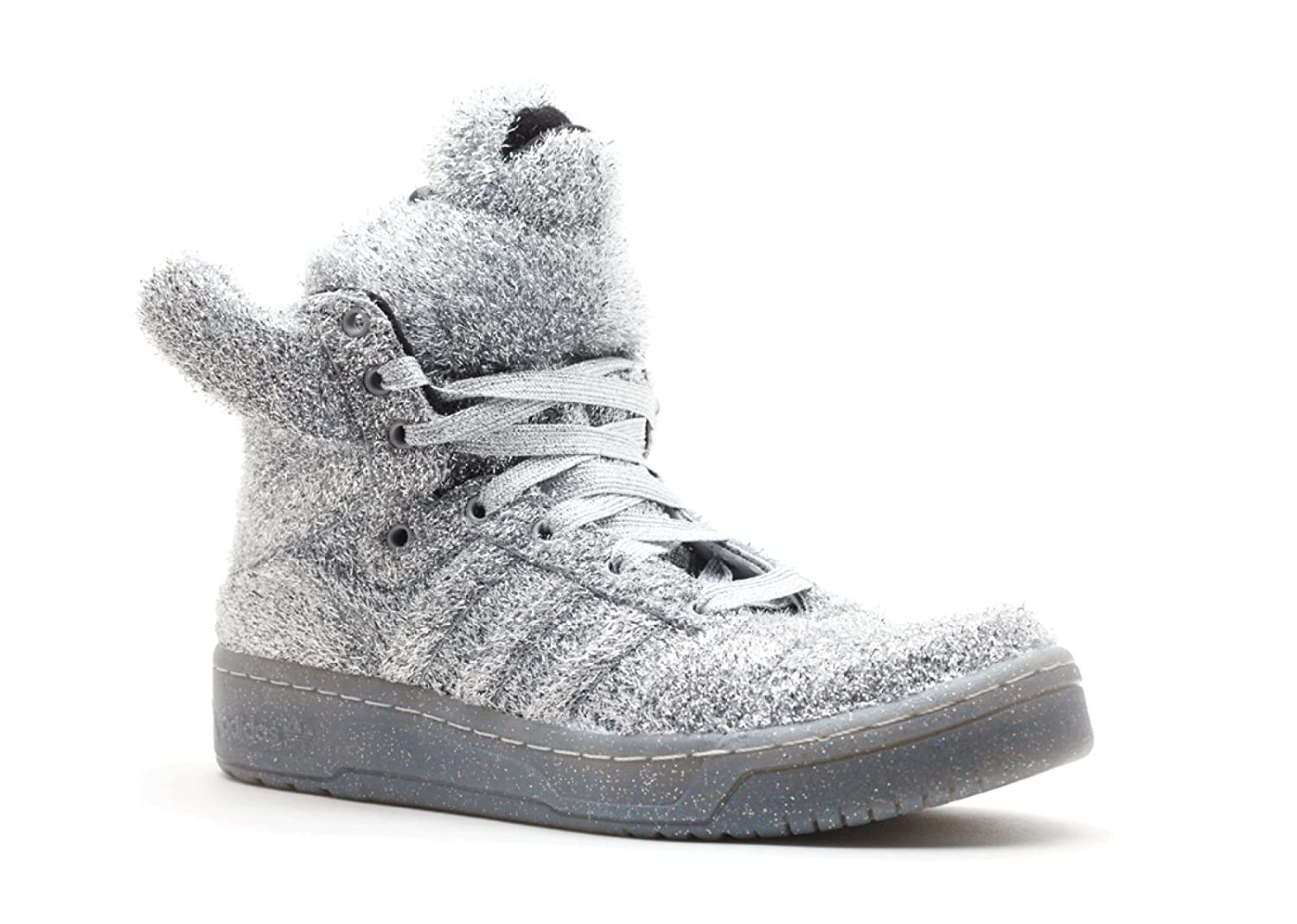 buy popular a1590 84186 Amazon.com   adidas Jeremy Scott Bear (Unisex Sizes) in Supplicol (SIlver)    Shoes