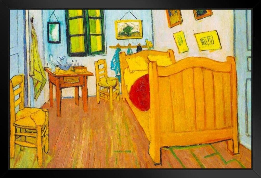 Amazon Com Vincent Van Gogh Bedroom In Arles 1888 Oil On Canvas Post Impressionist Painting Black Wood Framed Poster 20x14 Posters Prints,The Animals House Of The Rising Sun Chords Guitar