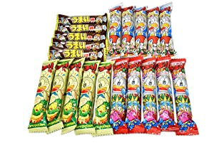 Umaibo, Japanese popular snack food, Chocolate taste and others,total 20 pcs. No.a219