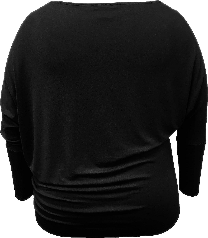Camisa de Manga Larga Asim/étrica//Fuera del Hombro LEEBE Mujer Talla Grande 1XL-5XL