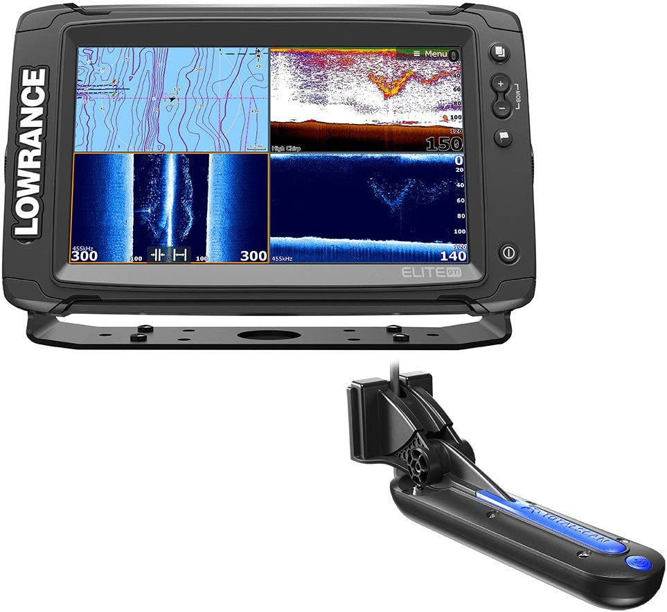 Lowrance Elite-9 Ti Chartplotter/Fishfinder w/TotalScan Transom ...