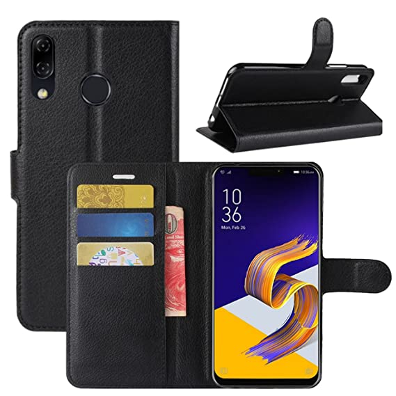 watch 01b72 86cee Zenfone 5 ZE620KL Case, Fettion Premium PU Leather Wallet Flip Phone  Protective Case Cover with Card Slots for Asus Zenfone 5 ZE620KL 6.2 Inch  ...