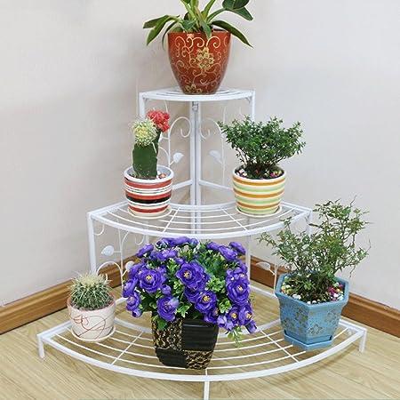 MILAYA JI Bin Shop® Marco de Flores de Hierro de Varios Pisos de ...