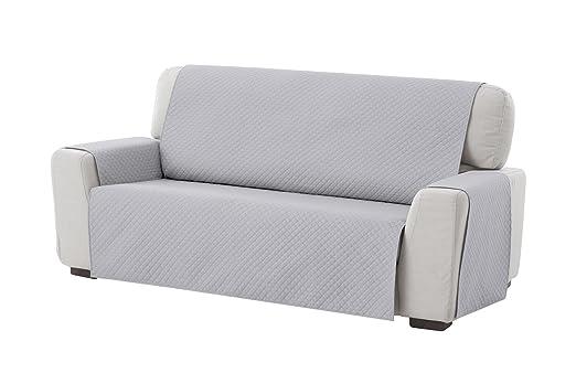 textil-home Funda Cubre Sofá Adele, 1 Plaza, Protector para Sofás Acolchado Reversible. Color Azul