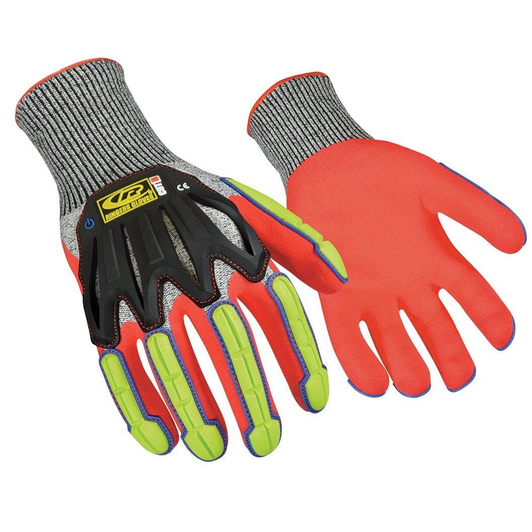 Ringers Gloves 065 R-Flex Impact Nitrile - Light Duty Impact Glove, Full Flexibility, Large