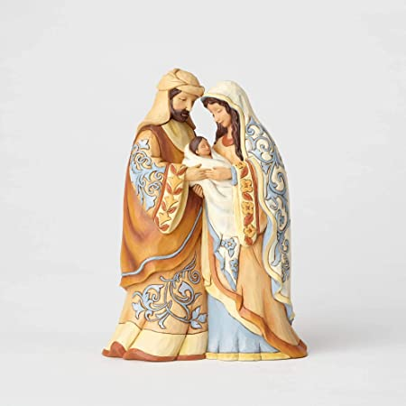 Enesco Jim Shore Heartwood Creek Collection Holy Family Stone Resin Figurine, 8 , Multicolor