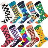 Funny Socks for Men & Women ,Fun Socks ,Crazy Colorful Cool Novelty Cute Dress Socks ,Food Animal Space Socks