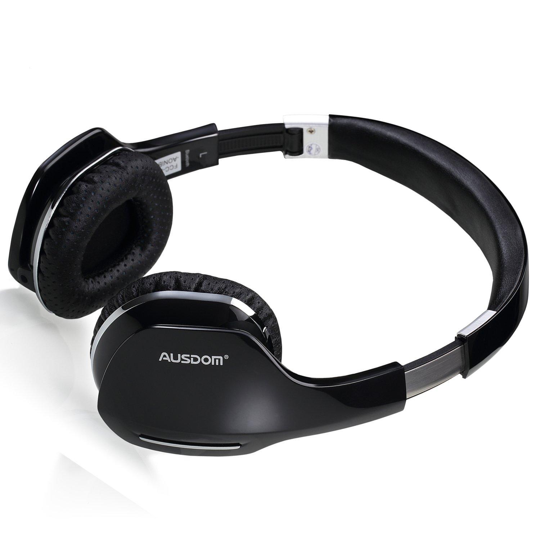 AUSDOM Bluetooth 4.0 M07 auricular inalámbrico plegable para auriculares over-ear estéreo con micrófono Manos libres Auriculares para Música Correr ...
