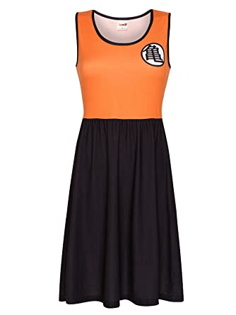 Dragon Ball Z Kame Vestido naranja/negro L: Amazon.es: Ropa ...