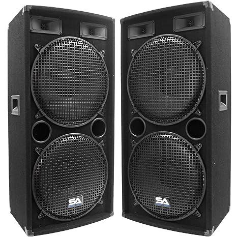 Seismic Audio - Pair of Dual 15